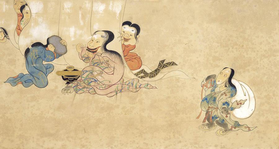 狩野洞雲益信「百鬼夜行図」(部分) 紙本着色一巻 貞享元年(1684)以前 国立歴史民俗博物館蔵